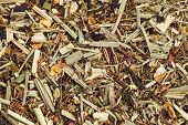 background texture of lemongrass organic tea, caffeine free