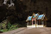 Buddhist temple in natural caves, Sam Roi Yot, Thailand