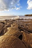 olas chapoteando en la playa de La Pared, Fuerteventura