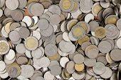 Pile Of Thai Baht Coin