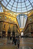 Galleria Vittorio Emanuele Shopping Center In Milan, Italy