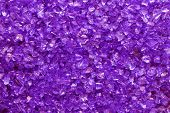 violet glass granules background