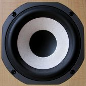 Closeup Of A Bass Loudspeaker