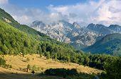 panorama of mountain range in the Kelmend Commune, Albania