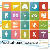 Set of minimal style medical icons
