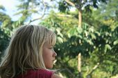Young Girl Looking at the Jungle