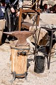 picture of blacksmith shop  - A small open blaksmith shop in sunny day - JPG