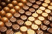 Variety of hand made swiss chocolate