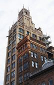 picture of asheville  - View of historic buildings in downtown Asheville North Carolina - JPG