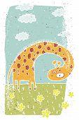 giraffe vignette