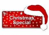 Red Christmas Special Button