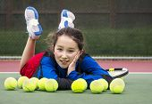 Outdoor Tennis Fun For Girl