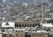 Aleppo Great Mosque From The Citadel