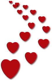pic of valentine heart  - many red hearts - JPG