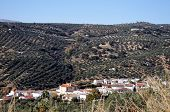 White village, Zagra, Spain.