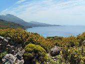 Bay And Mountain View, Crete, Greece