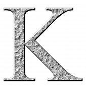 3D letra pedra grega Kappa