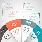 circular pie chart infographics