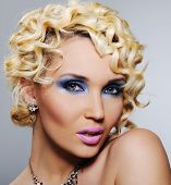 Woman With Bright Glamour Make-up