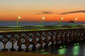 Pier da praia de Punta Del Este