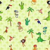 Seamless Various Animal Pattern