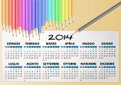2014 Calendar Pencil, Italian