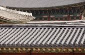 Korean Palace Roof Abstract