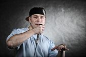 picture of rapper  - Rapper attitude rap singer hip Hop Dancer performing - JPG