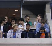 irector Spike Lee attends match at US Open 2013 between Roger Federer and Adrian Mannarino