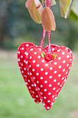 hanging cloth heart