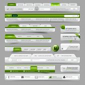 Website Vorlage Designelemente Menü Navigation mit Icon set