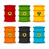 Barrels with dangerous substances
