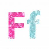 stock photo of fanny  - Multicolor grunge letter - JPG
