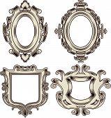 Set of Vintage Heraldic Frames.eps