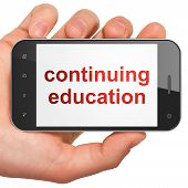 Education concept: Continuing Education on smartphone