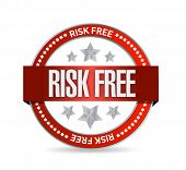 Risk Free Seal Illustration Design