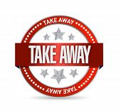 Take Away Seal Illustration Design