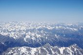 View of the Caucasus mountains from the West peak of Elbrus