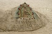 Jesús en la arena