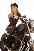 Woman Cop Motorcycle Ride Look