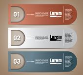 options banner design. Vector illustration modern template design. Cutout lines. origami design