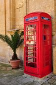 red phone booth,island Malta