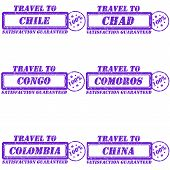 foto of chad  - Set of stamps travel to chile - JPG
