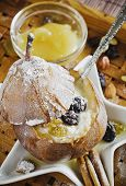 Baked Pear With Curd