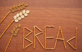 Wheatear Made From Bread With Letters
