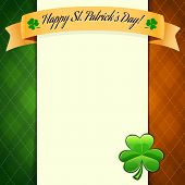 St Patrick's Day's Poster With Irish Flag's Colors