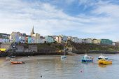 Welsh harbour of Tenby Pembrokeshire Wales