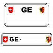 Geneva plate number, Switzerland