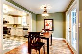 Rectangle Olive Tones Dining Room