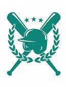 Постер, плакат: Baseball championship emblem